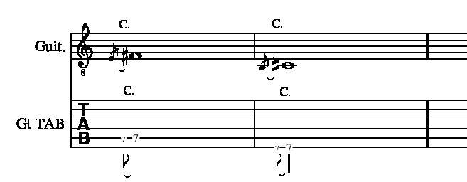 5、6弦チョーキング