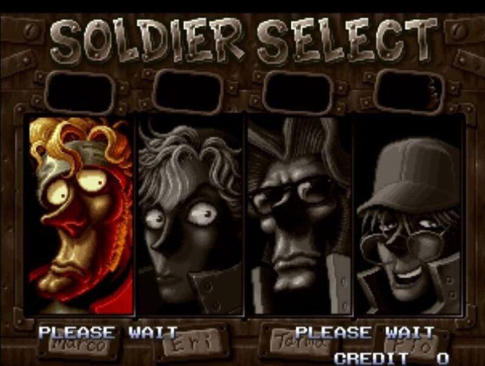 「メタルスラッグ2」キャラクター選択