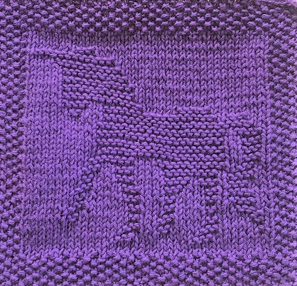 Little Unicorn Knitting Pattern - Dishcloth or Blanket ...