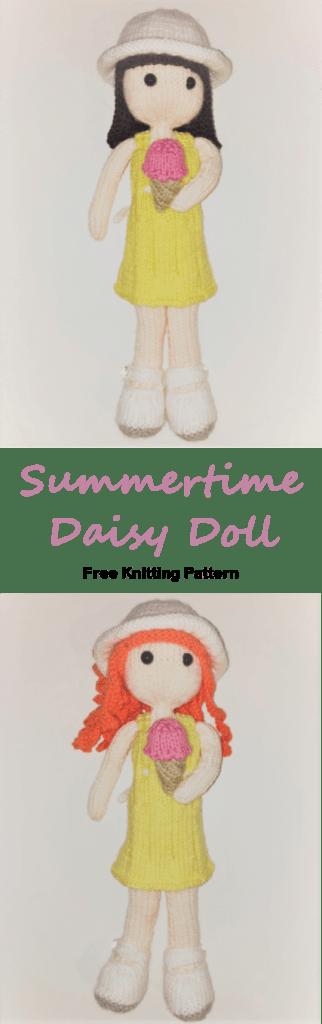 Summertime Daisy Doll Free Knitting Pattern