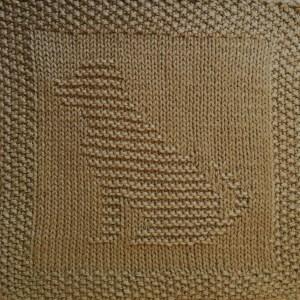 Free Labrador Dog Washcloth or Dishcloth or Afghan Square Knitting Pattern