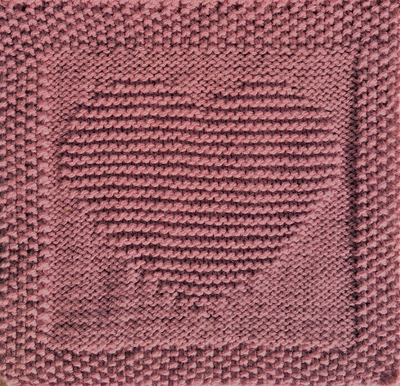 Free Knitting Pattern Heart Dishcloth or Afghan Square ...