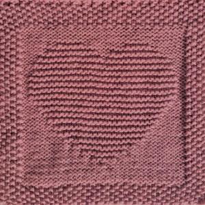 free knitting pattern heart washcloth dishcloth afghan square