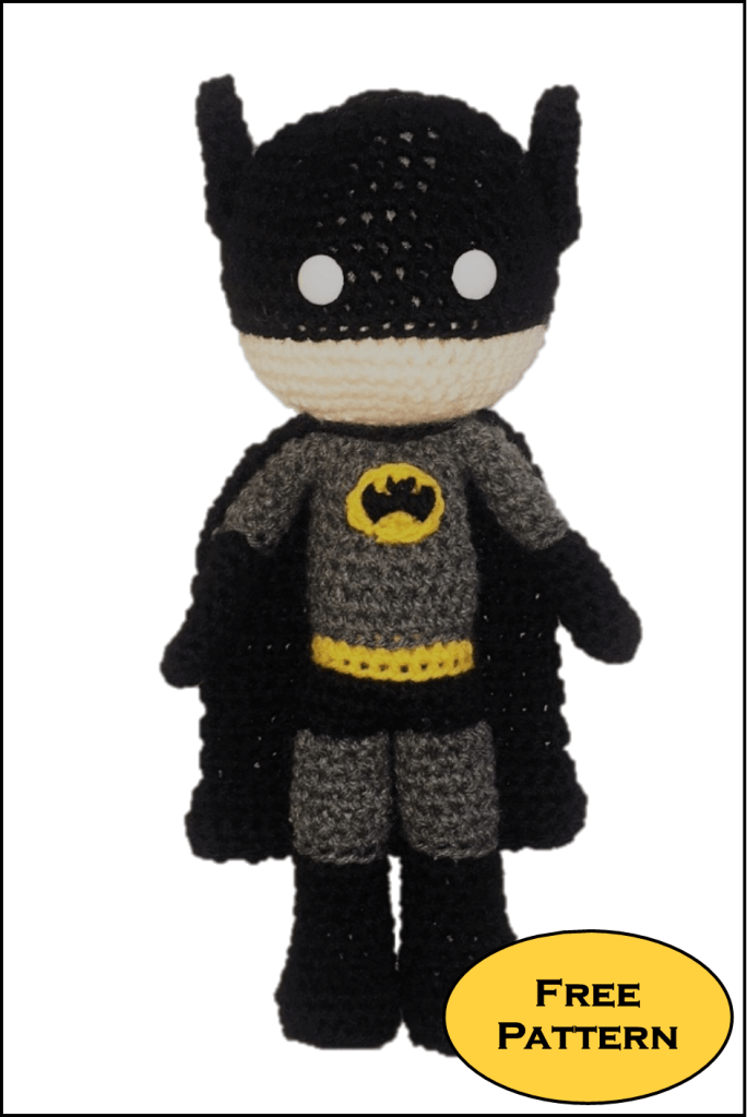 Free Batman Amigurumi Pattern (Crochet) - Daisy and Storm