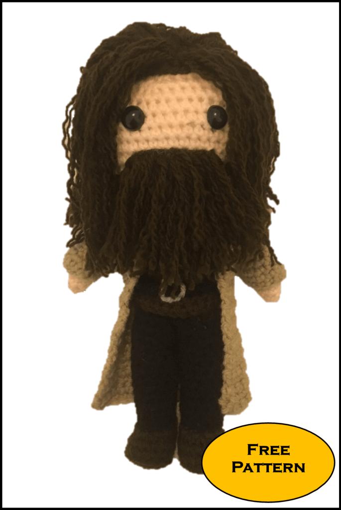 Free Rubeus Hagrid Amigurumi Pattern Crochet Daisy And Storm