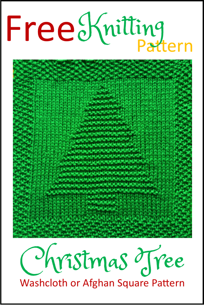 Free Christmas Tree Dishcloth or Afghan Square - Daisy and ...