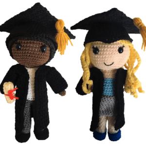 Free Graduation Doll Amigurumi Pattern