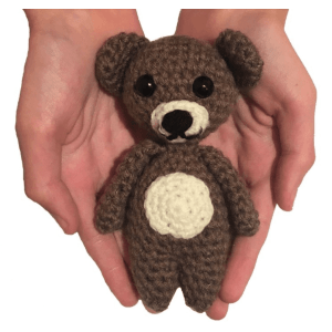 tiny teddy free amigurumi crochet pattern