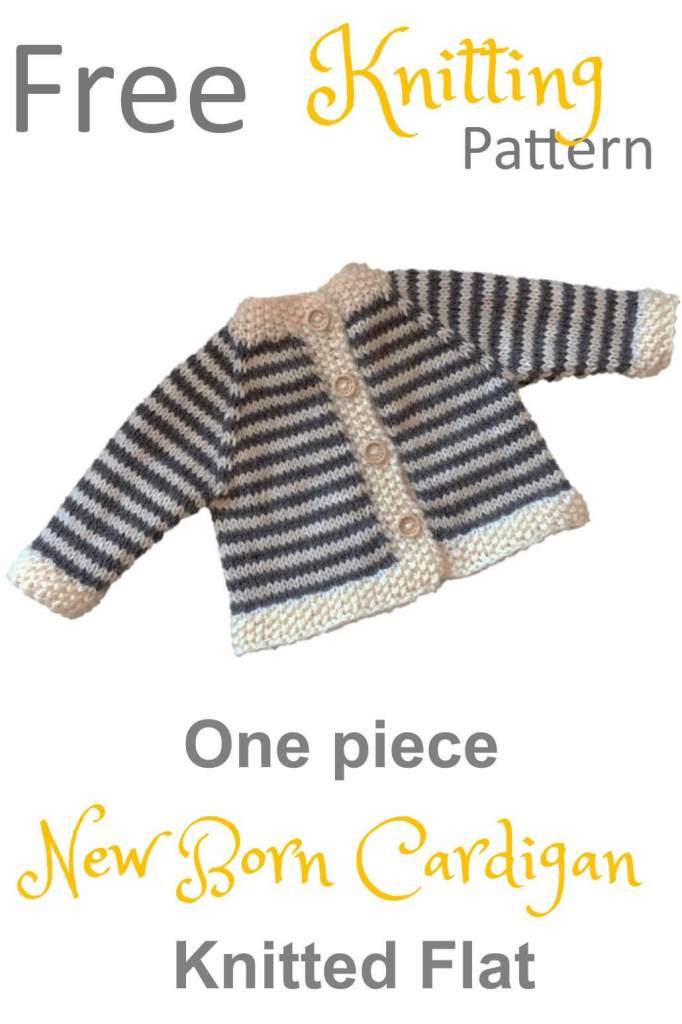 Stash Busting Baby Cardigan Free Knitting Pattern