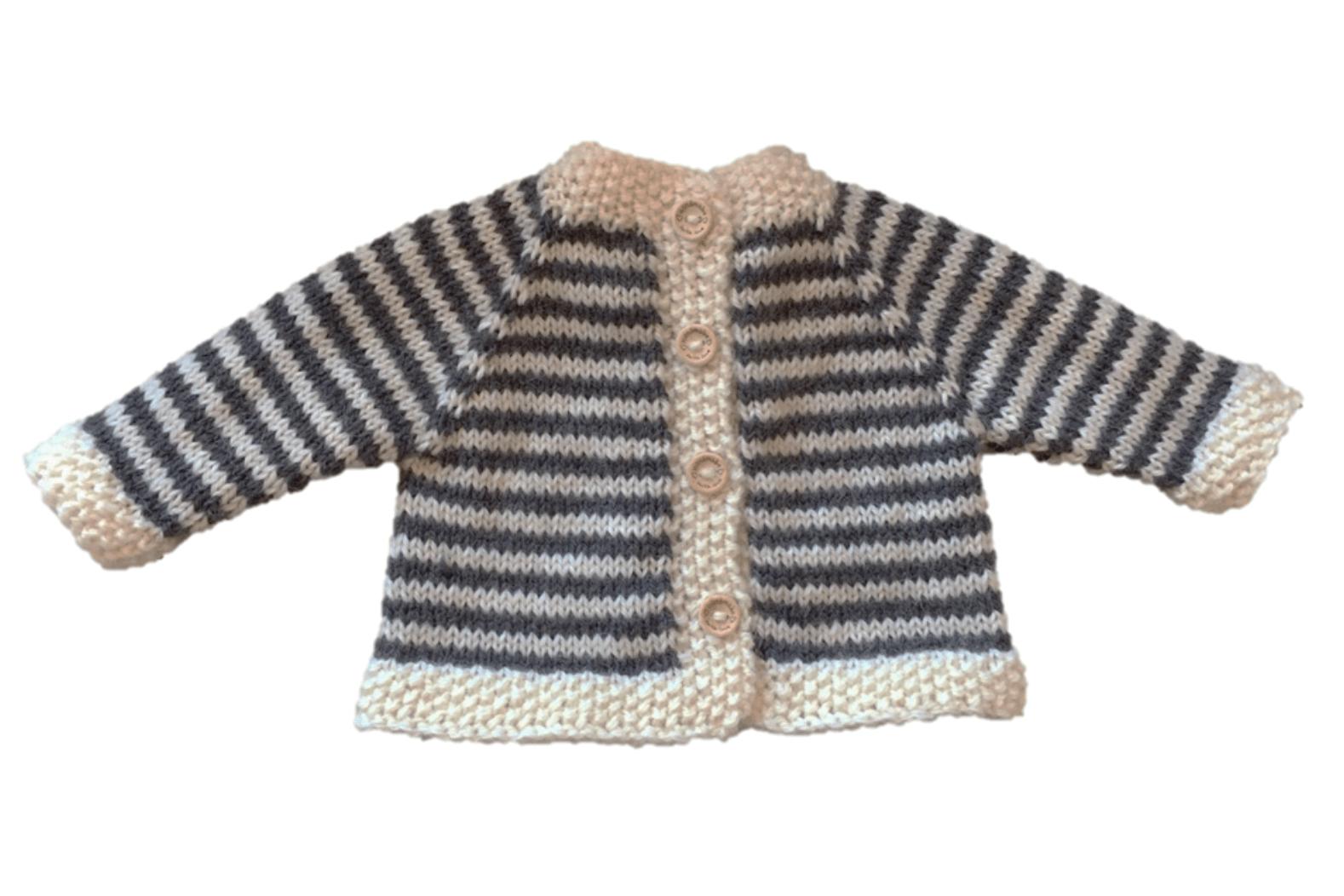 Stash Busting Baby Cardigan Free Knitting Pattern