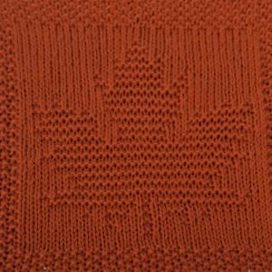Free Maple Leaf Washcloth Afghan Square Knitting Pattern