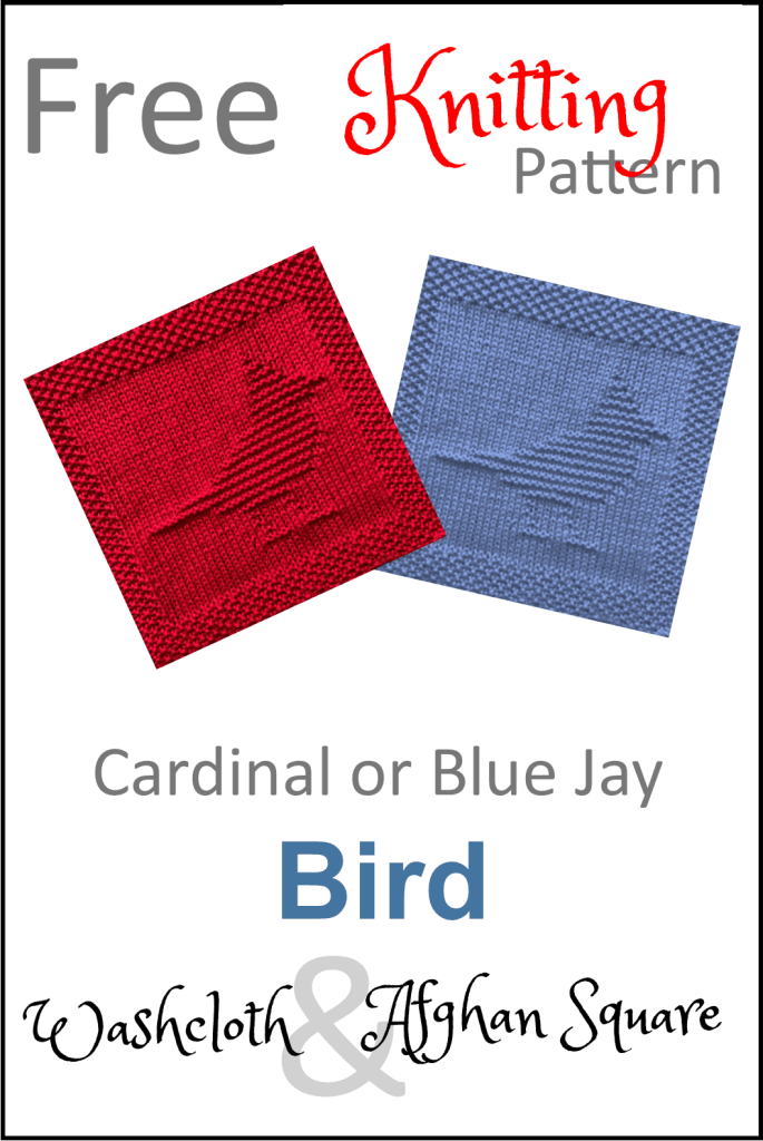 Free Cardinal or Blue Jay Dishcloth or Afghan Square ...
