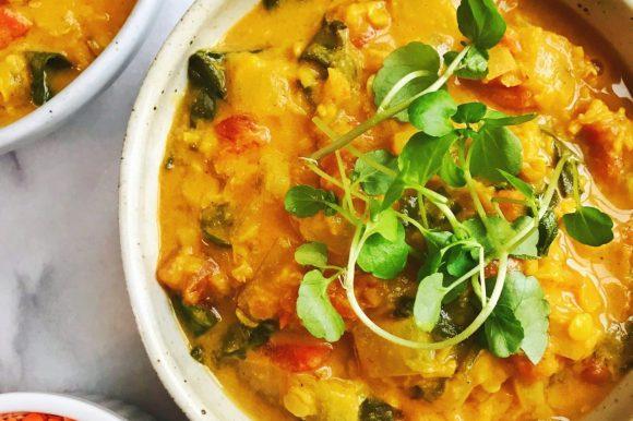 Curry Coconut Red Lentil Soup