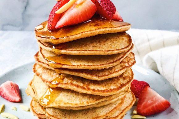 Whole Grain Vanilla Pancakes