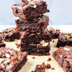 Fudgy Tahini Brownies with Chocolate Drizzle