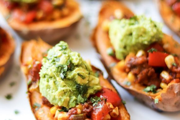 Mexican Stuffed Sweet Potatoes (Vegan, Gluten Free)
