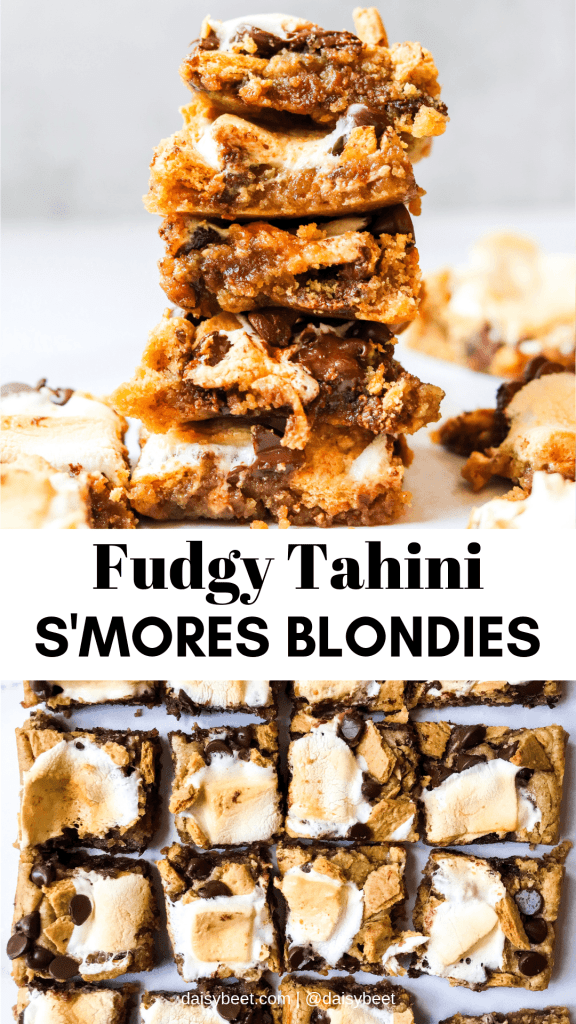 Pinterest Graphic s'mores blondies