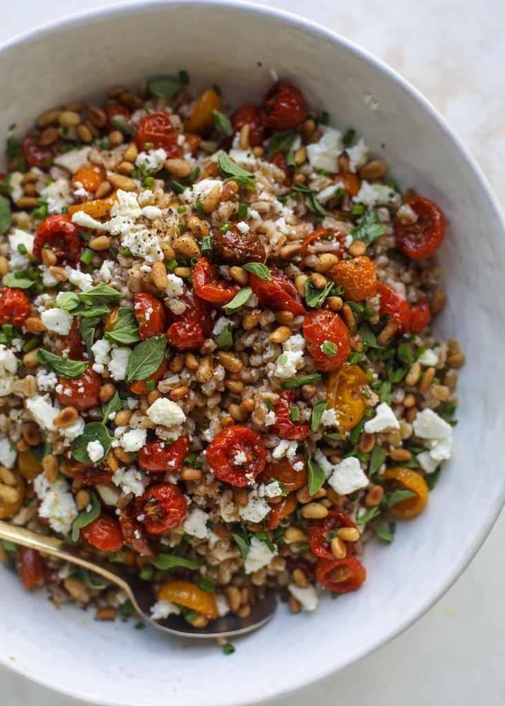 farro roasted tomato salad - how sweet eats