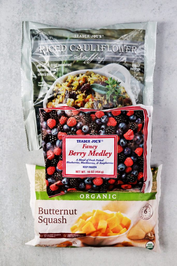 Pantry staples - frozen produce