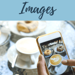 """Camera taking picture of woman talking, text overlay """"Why Your Blog Posts Need Images"""""""