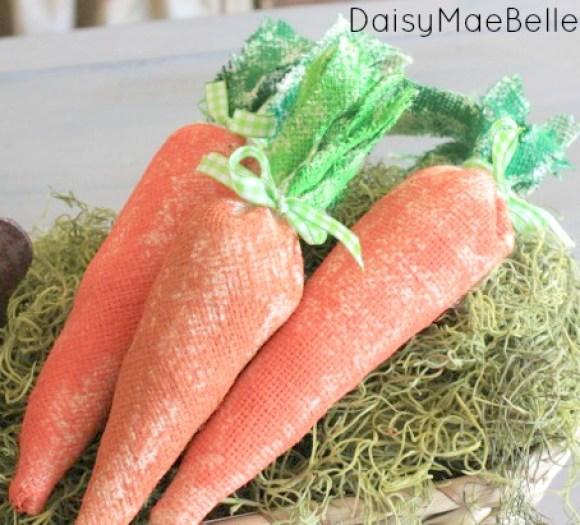 Burlap Carrots @ DaisyMaeBelle