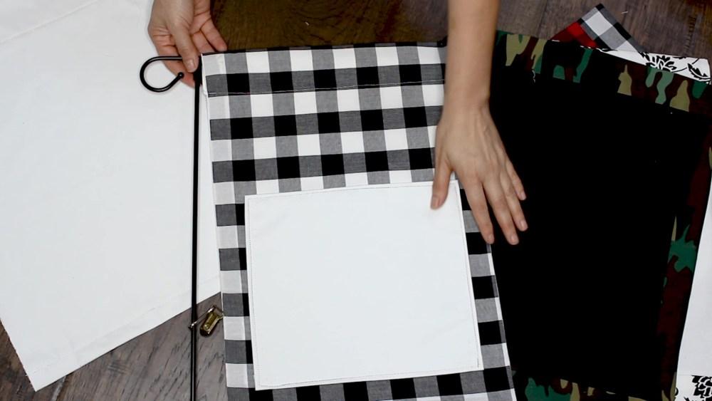 Así es como se ve la tercera bandera de jardín de bricolaje.  ¡¡Hermosa!!