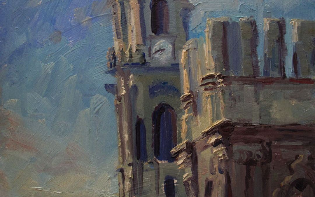 Painting the heady heights of Malaga's Cathedral