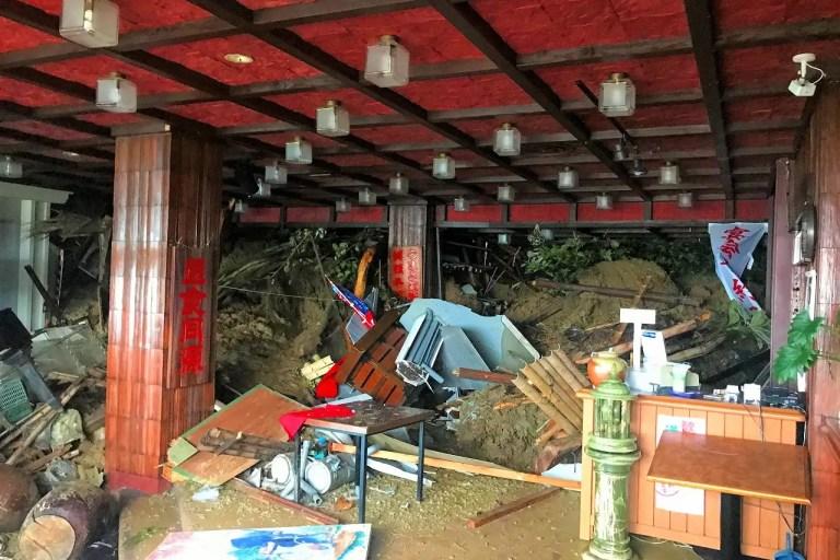 【大東】【豪雨被害】はや山荘で土砂災害発生!甚大な被害で営業再開のめど立たず。