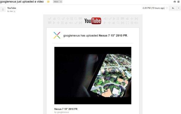 """googlenexus has uploaded Nexus 7 15"""" 2910 FR."""