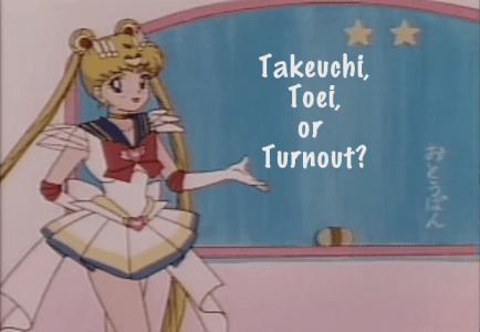 Takeuchi, Toei, or Turnout?