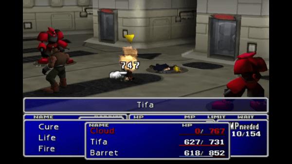 Final Fantasy VII Detected Battle