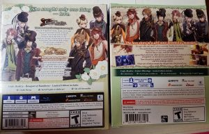 Code: Realize Future Blessings / Bouquet of Rainbows Limited Edition Back Covers