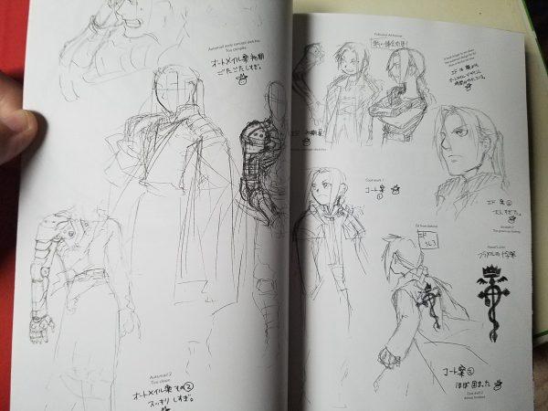 Fullmetal Alchemist Fullmetal Edition character designs