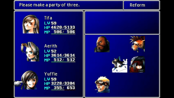 Final Fantasy VII New Threat - All Girls Team