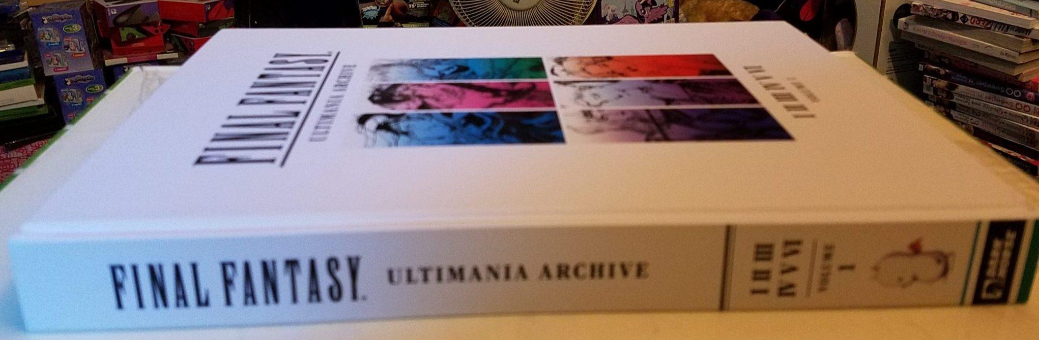 Final Fantasy Ultimania Archive 1 Spine