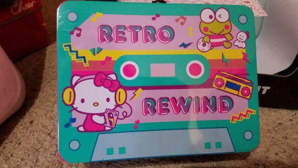 Hello Kitty Loot Crate Retro Rewind lunchbox