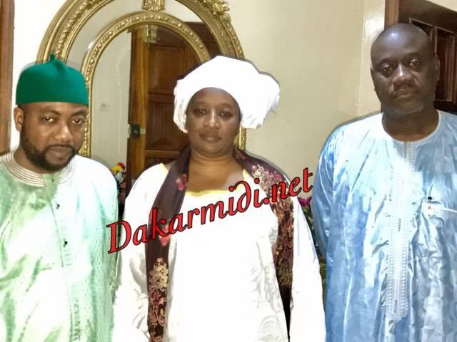 Arrêt sur image : Sheikh Alassane Sène recevant la ministre Aminata Lô et Serigne Moustafa Mbacké ibn Gaindé Fatma