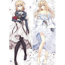 Dennieke Anime Violet evergarden Hugging Body Pillow Cover Case Dakimakura Zierkissenbezüge Cover Kissenbezüge Waifu Throw Pillowcases B 160x50cm Peach Skin - 1