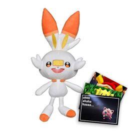 Pokémon Plüschtier Hopplo + Grußkarte 25cm