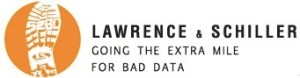 Mock Lawrence & Schiller Logo, parodied to reflect their poor choice of data for the Build Dakota Scholarship ad campaign.