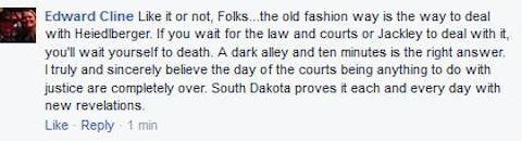 Edward Cline, Facebook comment, 2015.06.27
