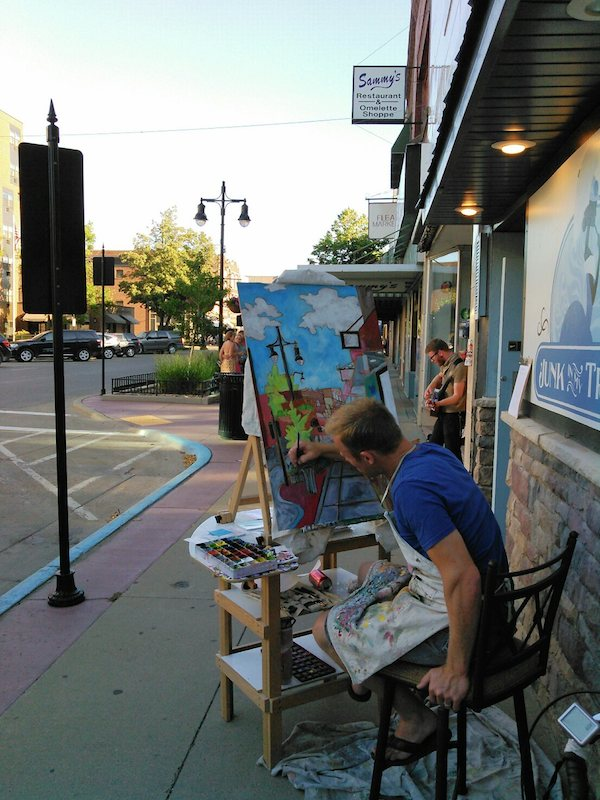Jacob Bosmoe renders Main Street in living color.
