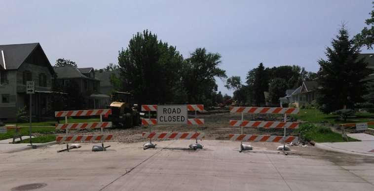 Kline Street closed for reconstruction, Aberdeen, SD, 2015.07.07