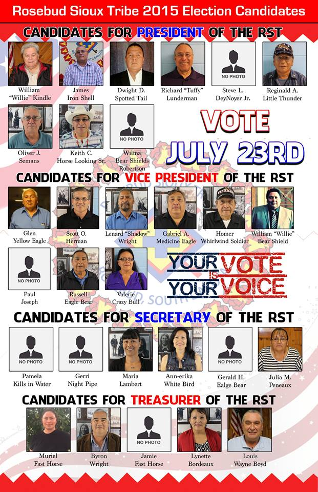 RST council candidates July 2015