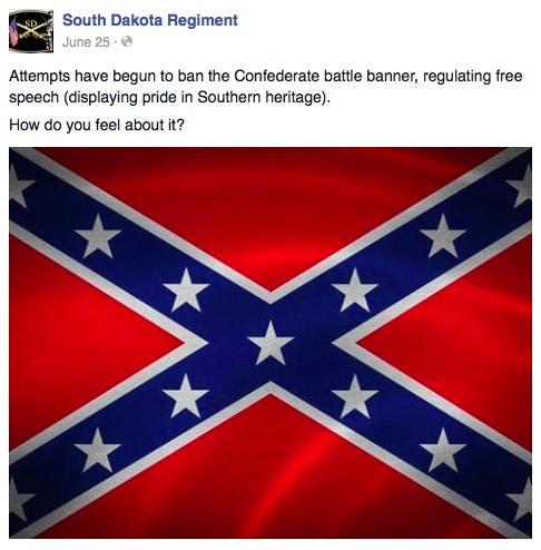 South Dakota Regiment, Facebook post, 2015.06.25