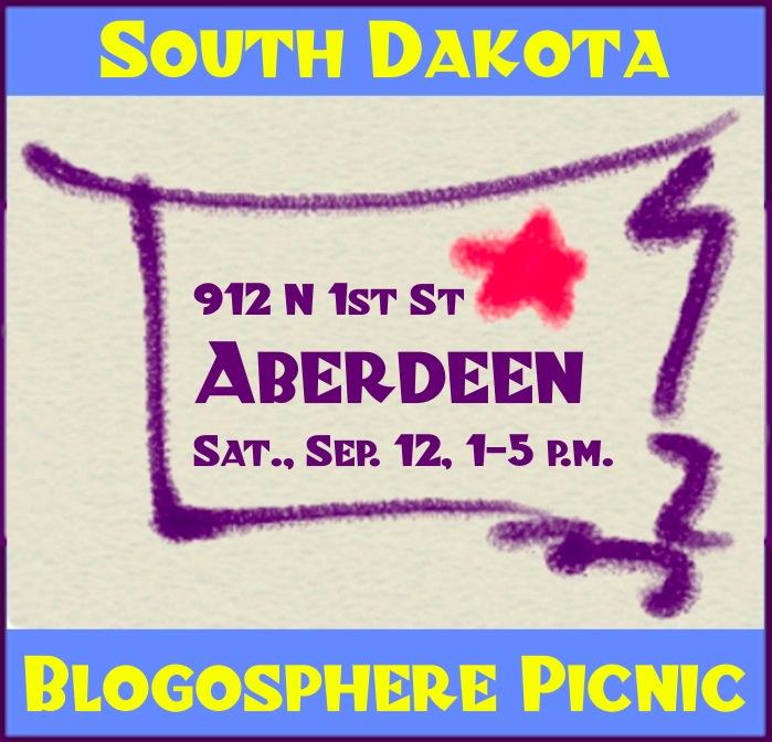 South Dakota Blog Picnic, Aberdeen, SD, September 12, 2015