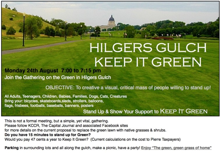 Hilger's Gulch protest poster, post by Bob Mercer, 2015.08.16.