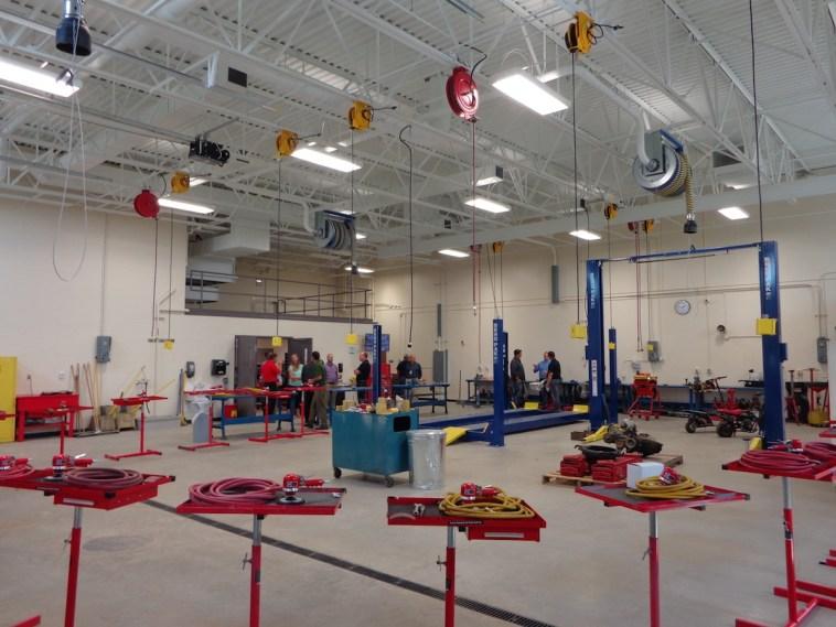 Auto shop, A-TEC Academy, Aberdeen, South Dakota