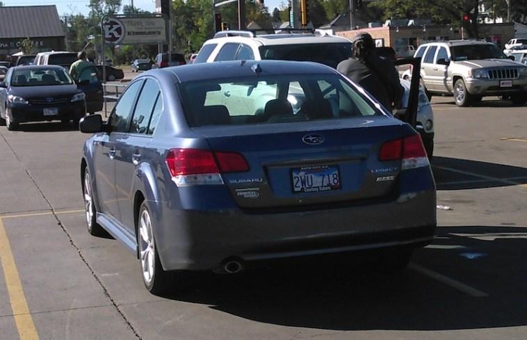 Marsy's Law petition car, just before leaving Kesslers, Sunday morning, September 20, 2015.