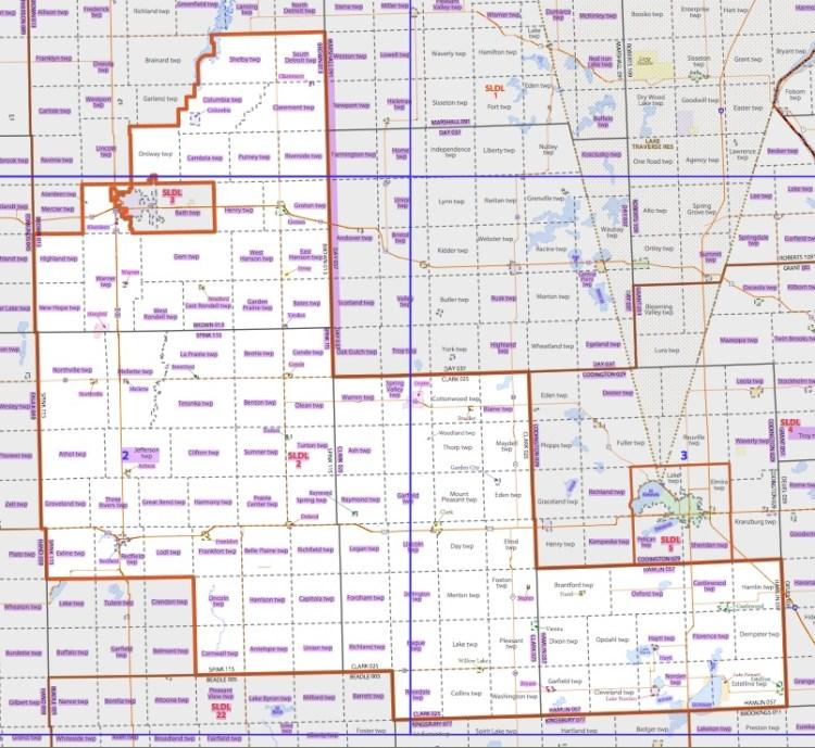 District 2, as gerrymandered by the South Dakota Legislature, 2011